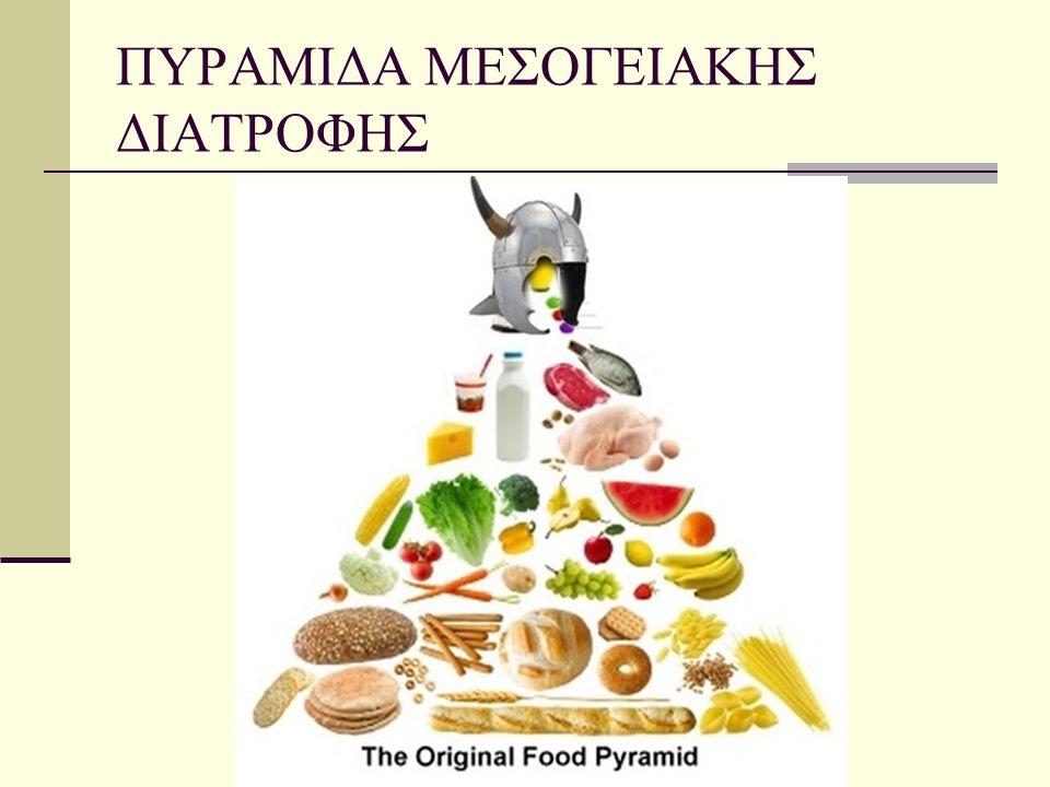Όπως προαναφέρθηκε έχει κοινά χαρακτηριστικά σε όλους τους λαούς της Μεσογείου, αφού όλοι έχουν παρόμοια παραγωγή τροφίμων, όπως ελιές, πορτοκάλια, καρύδια, κάστανα, σταφύλια, δημητριακά, όσπρια κ.