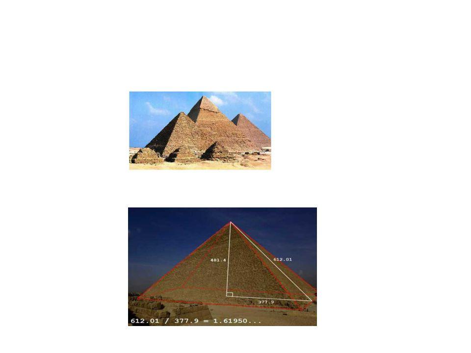 Οι αρχαίοι αιγύπτιοι ήταν οι πρώτοι που χρησιμοποίησαν τα μαθηματικά στη τέχνη. Χρησιμοποίησαν την αναλογία της χρυσής τομής στο χτίσιμο των πυραμίδων