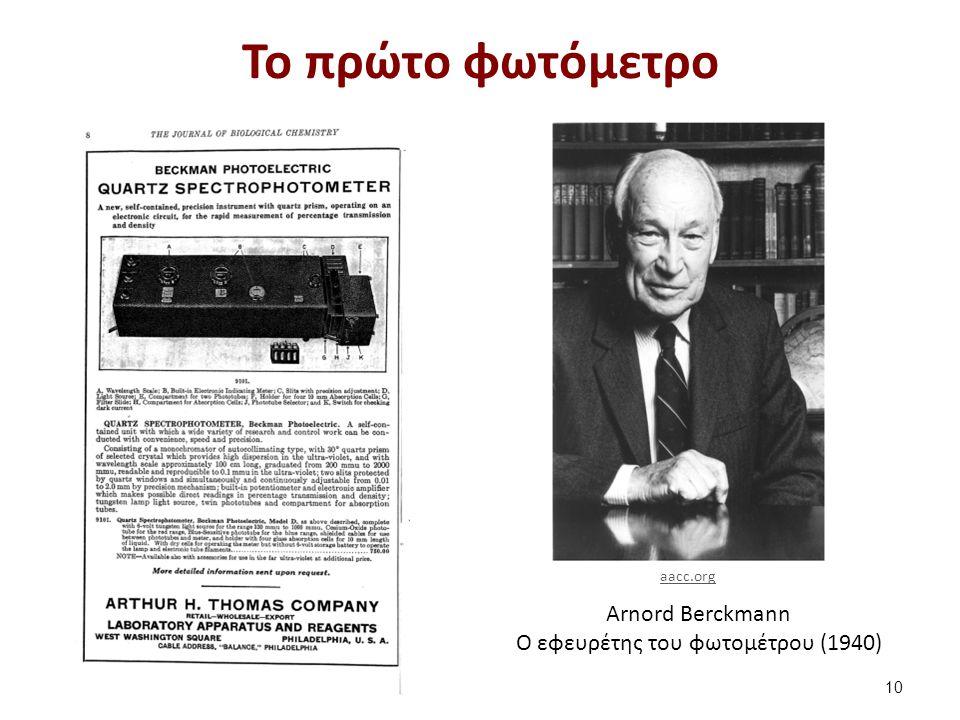 Arnord Berckmann Ο εφευρέτης του φωτομέτρου (1940) Το πρώτο φωτόμετρο 10 aacc.org