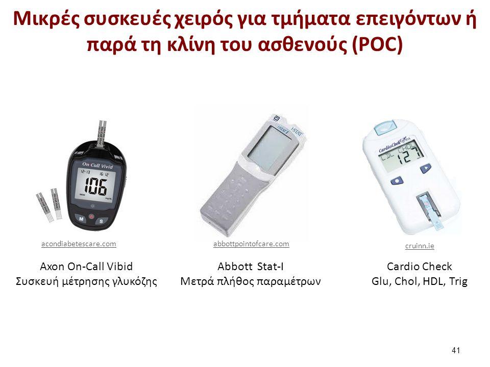 Abbott Stat-I Mετρά πλήθος παραμέτρων Axon On-Call Vibid Συσκευή μέτρησης γλυκόζης Cardio Check Glu, Chol, HDL, Trig Μικρές συσκευές χειρός για τμήματ