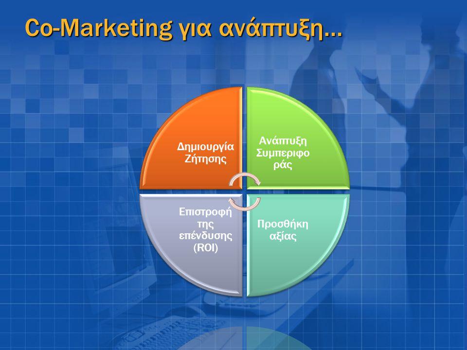 Co-Marketing για ανάπτυξη…