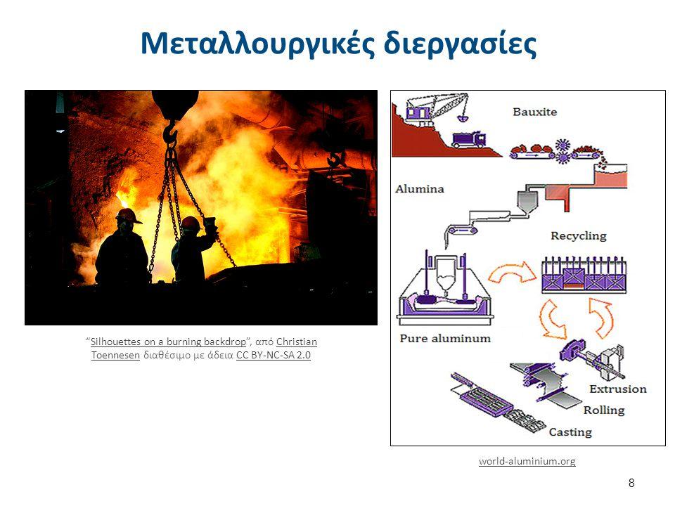 "world-aluminium.org 8 Μεταλλουργικές διεργασίες ""Silhouettes on a burning backdrop"", από Christian Toennesen διαθέσιμο με άδεια CC BY-NC-SA 2.0Silhoue"