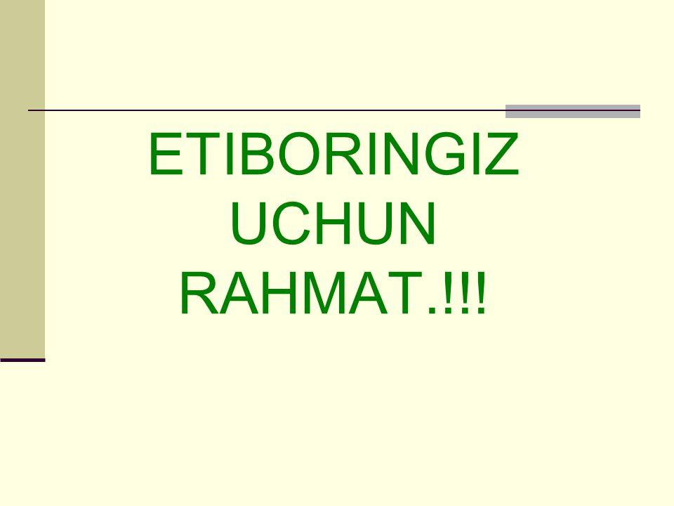 ETIBORINGIZ UCHUN RAHMAT.!!!