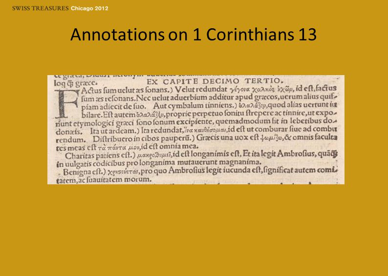 Annotations on 1 Corinthians 13