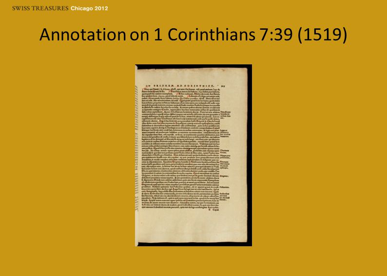 Annotation on 1 Corinthians 7:39 (1519)