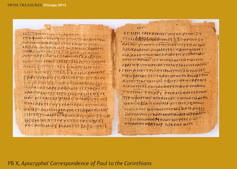 PB X, Apocryphal Correspondence of Paul to the Corinthians