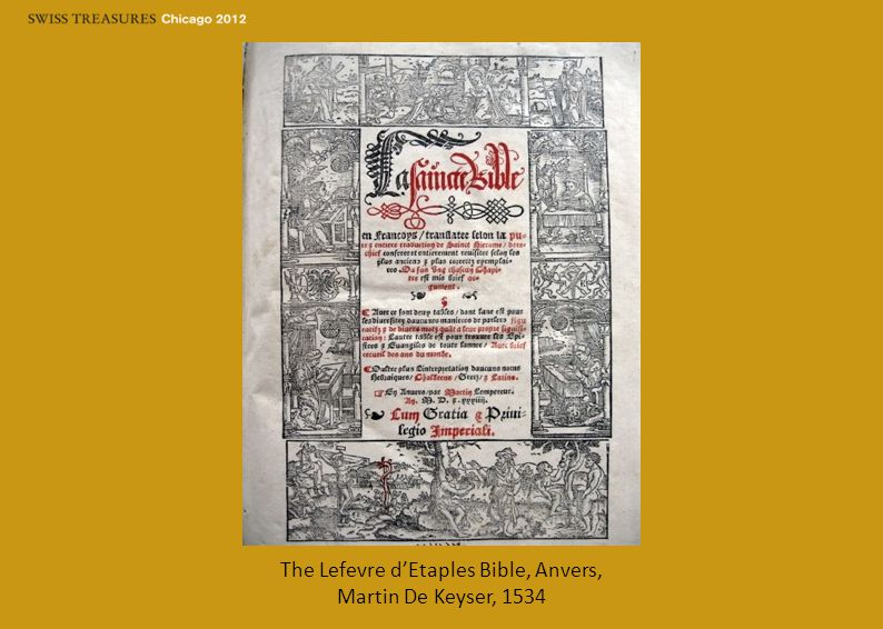 The Lefevre d'Etaples Bible, Anvers, Martin De Keyser, 1534