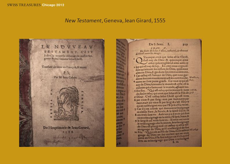 New Testament, Geneva, Jean Girard, 1555