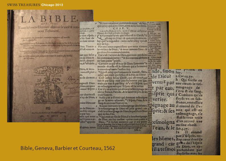 Bible, Geneva, Barbier et Courteau, 1562