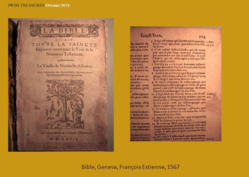 Bible, Geneva, François Estienne, 1567