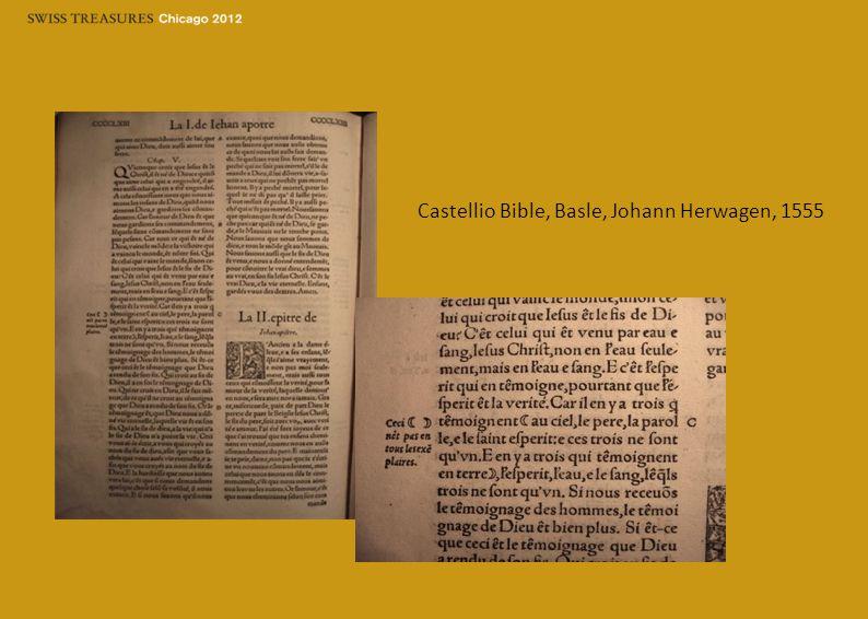 Castellio Bible, Basle, Johann Herwagen, 1555
