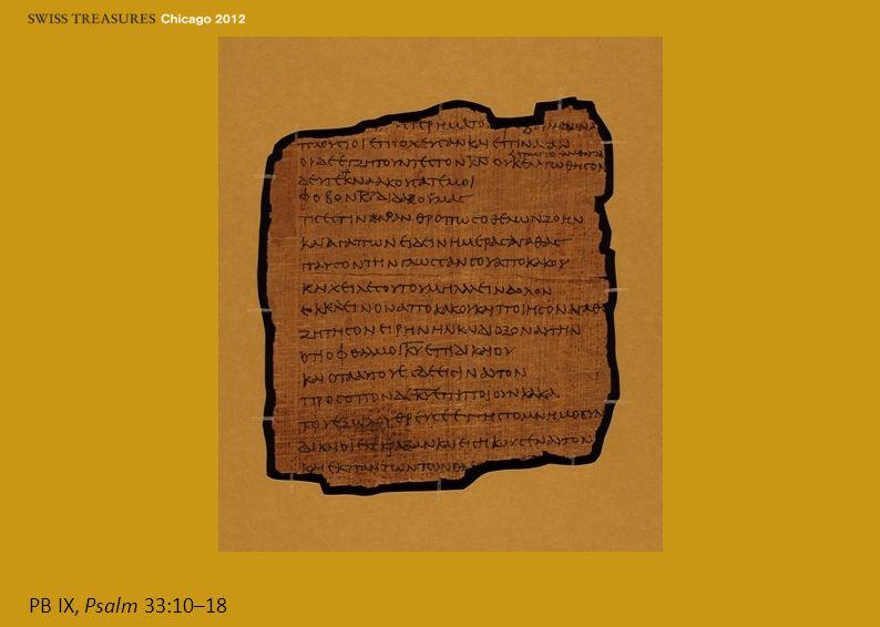 PB IX, Psalm 33:10–18