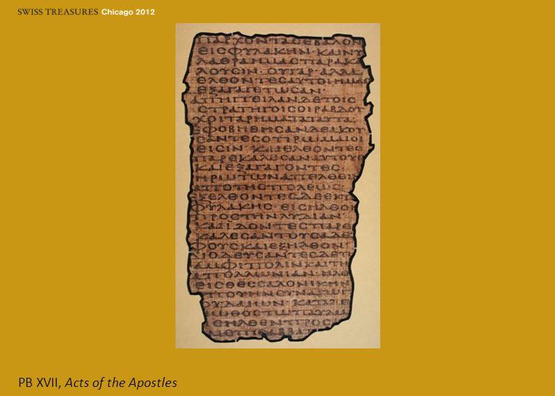 PB XVII, Acts of the Apostles
