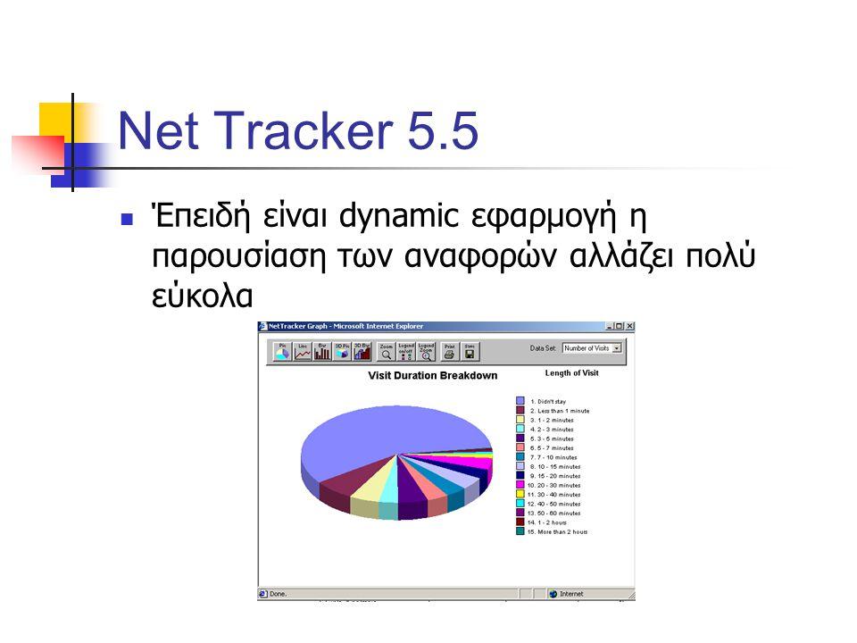 Net Tracker 5.5 Έπειδή είναι dynamic εφαρμογή η παρουσίαση των αναφορών αλλάζει πολύ εύκολα