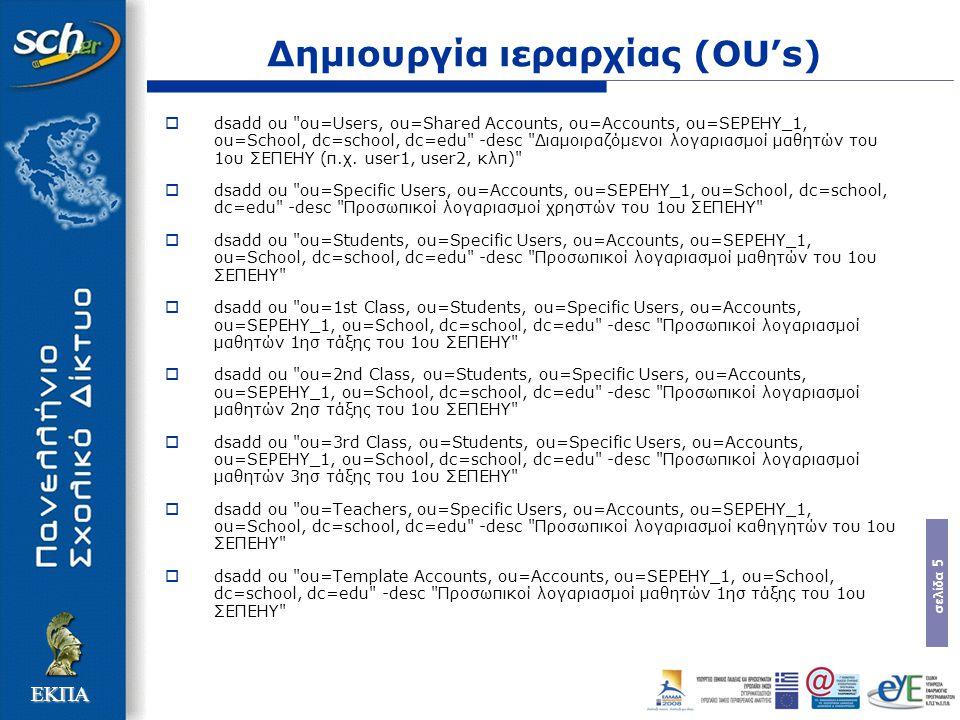 σελίδα 16 ΕΚΠΑ SEPEHY-Shared accounts policy