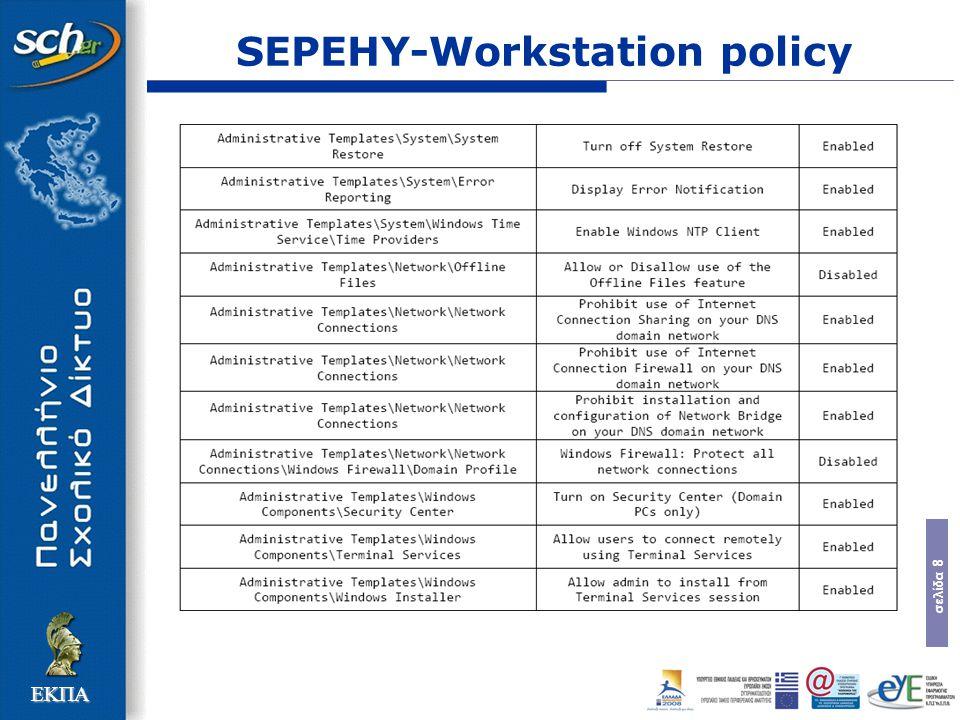 σελίδα 8 ΕΚΠΑ SEPEHY-Workstation policy