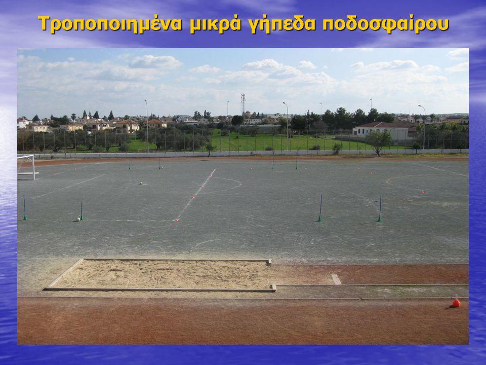 Τροποποιημένα μικρά γήπεδα ποδοσφαίρου