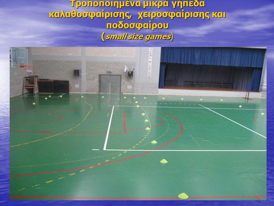Τροποποιημένα μικρά γήπεδα καλαθοσφαίρισης, χειροσφαίρισης και ποδοσφαίρου ( small size games )