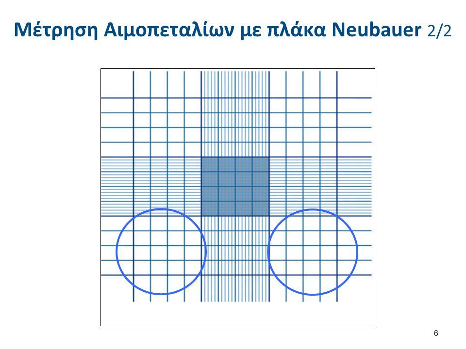 Μέτρηση Αιμοπεταλίων με πλάκα Neubauer 2/2 6