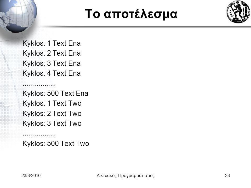 Το αποτέλεσμα Kyklos: 1 Text Ena Kyklos: 2 Text Ena Kyklos: 3 Text Ena Kyklos: 4 Text Ena.................