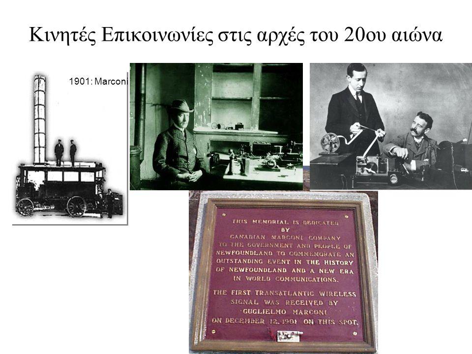 Κινητές Επικοινωνίες στις αρχές του 20ου αιώνα 1901: Marconi
