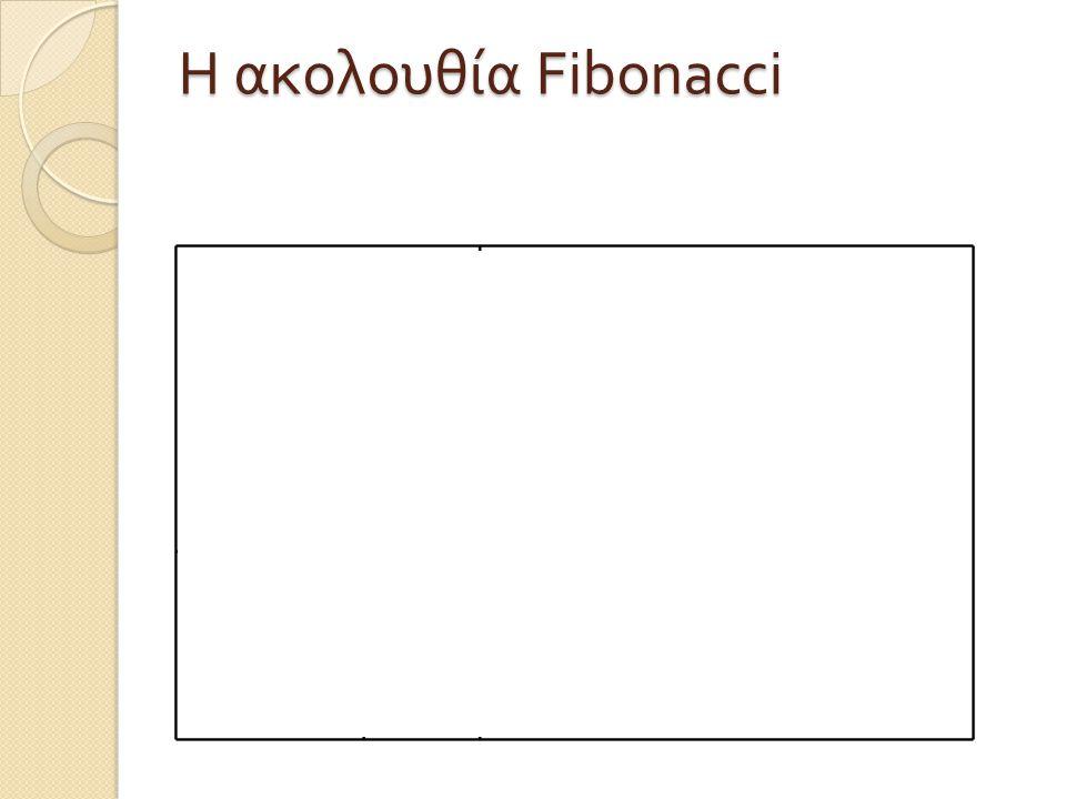 Η ακολουθία Fibonacci