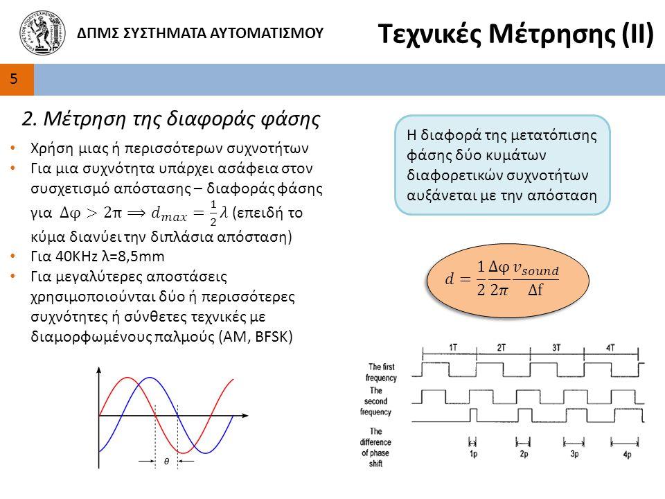 5 ΔΠΜΣ ΣΥΣΤΗΜΑΤΑ ΑΥΤΟΜΑΤΙΣΜΟΥ Τεχνικές Μέτρησης (ΙΙ) 2.