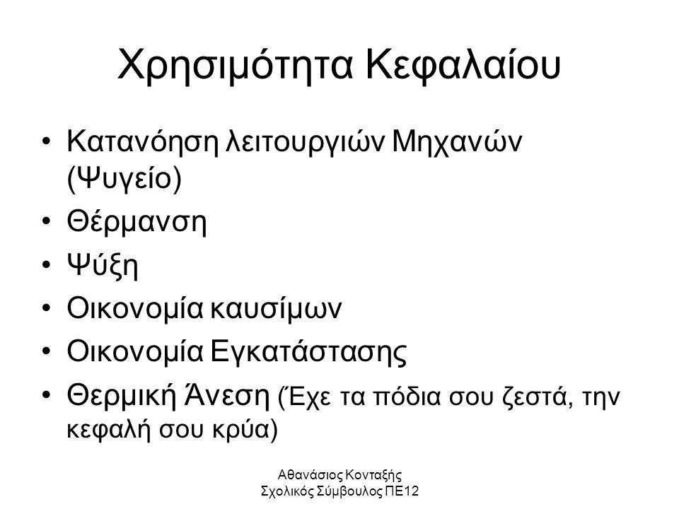 Αθανάσιος Κονταξής Σχολικός Σύμβουλος ΠΕ12 Στόχοι Α.