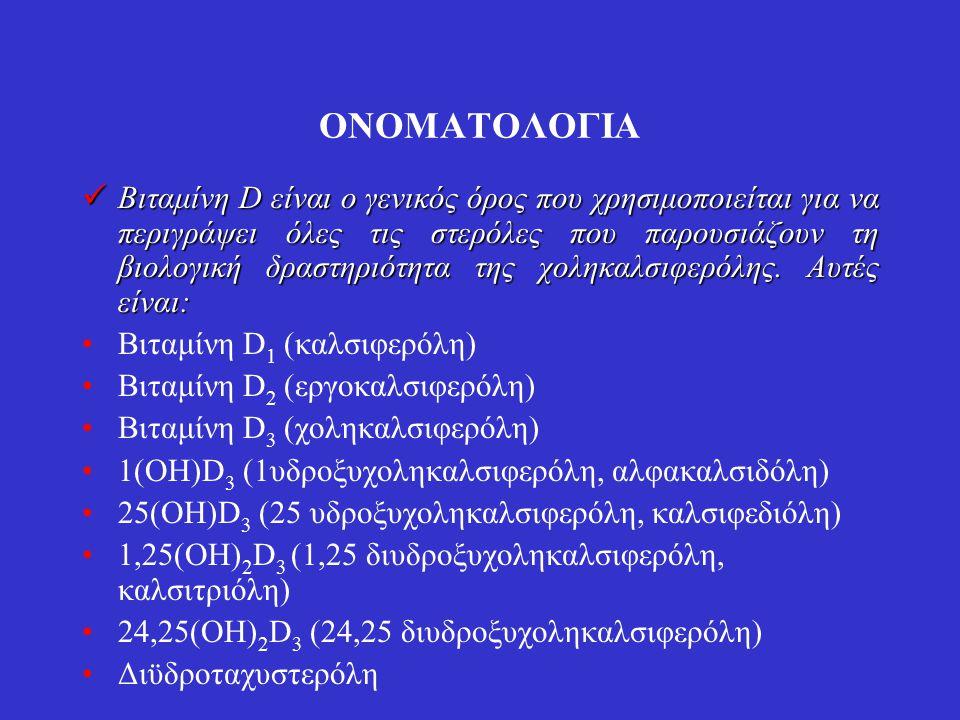 Μονάδες Μια διεθνής μονάδα (1 Unit) βιταμίνης D ορίζεται ως η δραστικότητα 0,025 μg χοληκαλσιφερόλης.