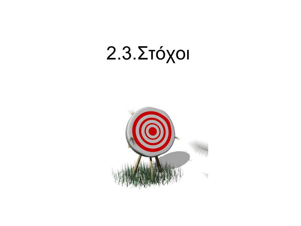 2.3.Στόχοι