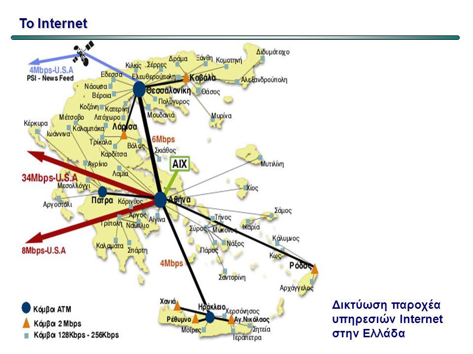 Το Internet Δικτύωση παροχέα υπηρεσιών Internet στην Ελλάδα