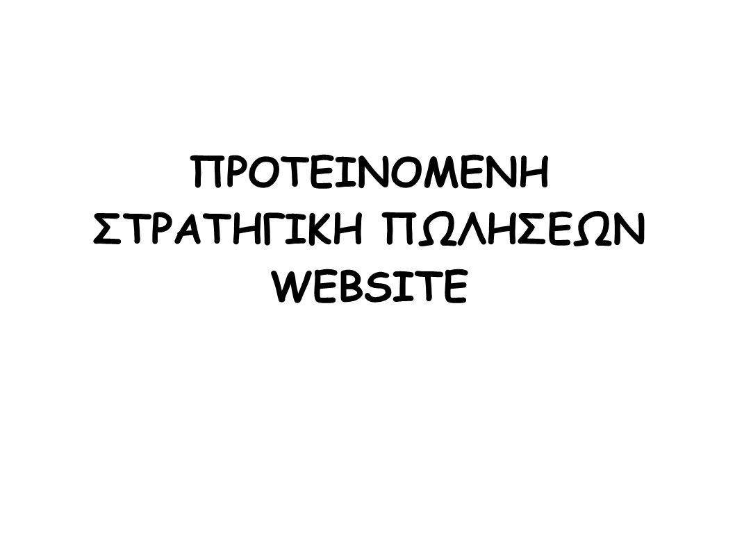 ΠΡΟΤΕΙΝΟΜΕΝΗ ΣΤΡΑΤΗΓΙΚΗ ΠΩΛΗΣΕΩΝ WEBSITE