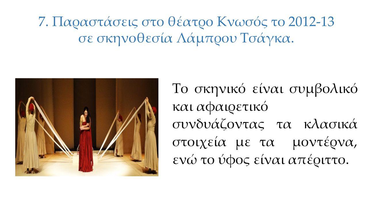 6.Παράσταση του 2012 στο θέατρο Θυμέλη σε σκηνοθεσία Έλλης Βοζικιάδου.
