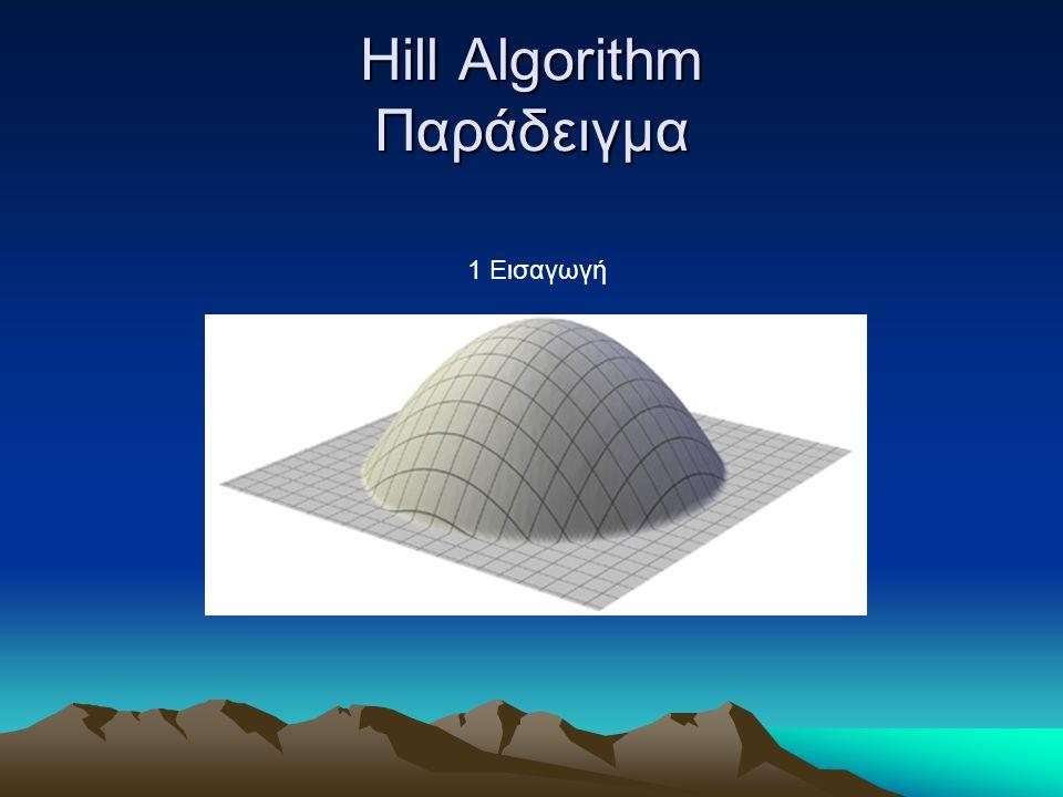 Hill Algorithm Παράδειγμα 1 Εισαγωγή