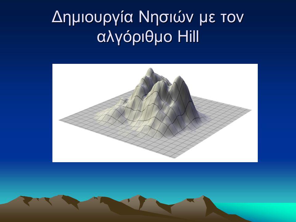 Δημιουργία Νησιών με τον αλγόριθμο Hill