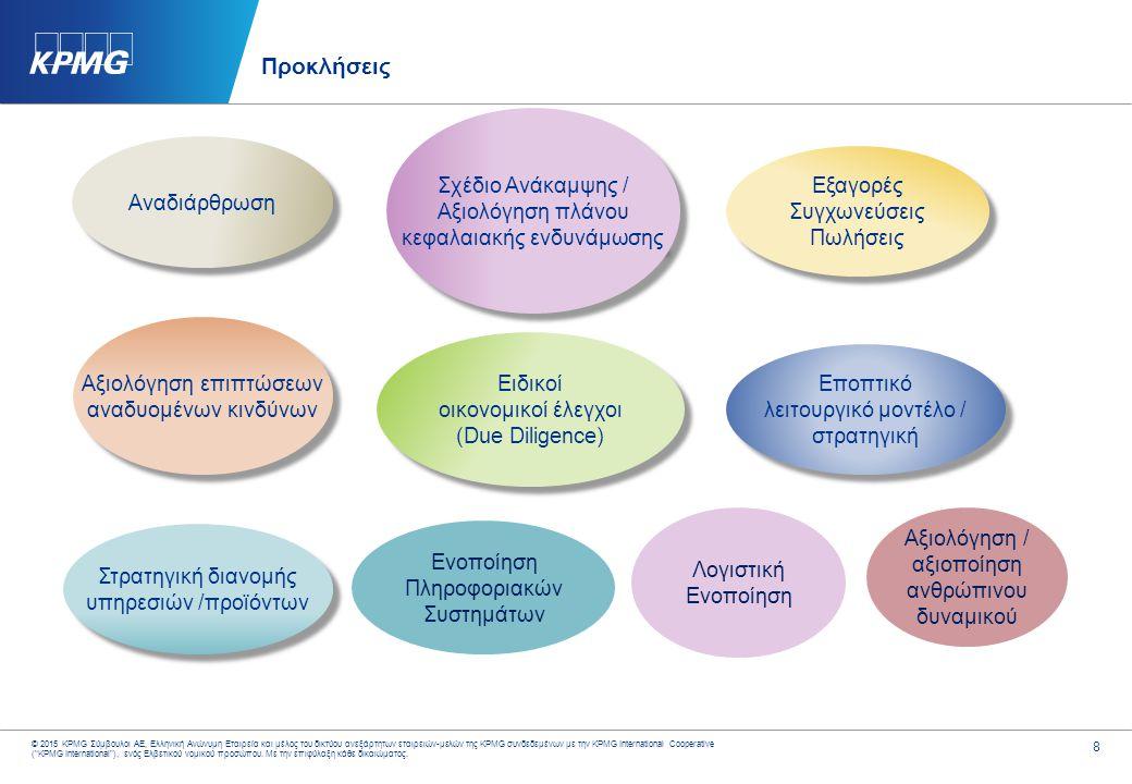 8 © 2015 KPMG Σύμβουλοι ΑΕ, Ελληνική Ανώνυμη Εταιρεία και μέλος του δικτύου ανεξάρτητων εταιρειών-μελών της KPMG συνδεδεμένων με την KPMG Internationa