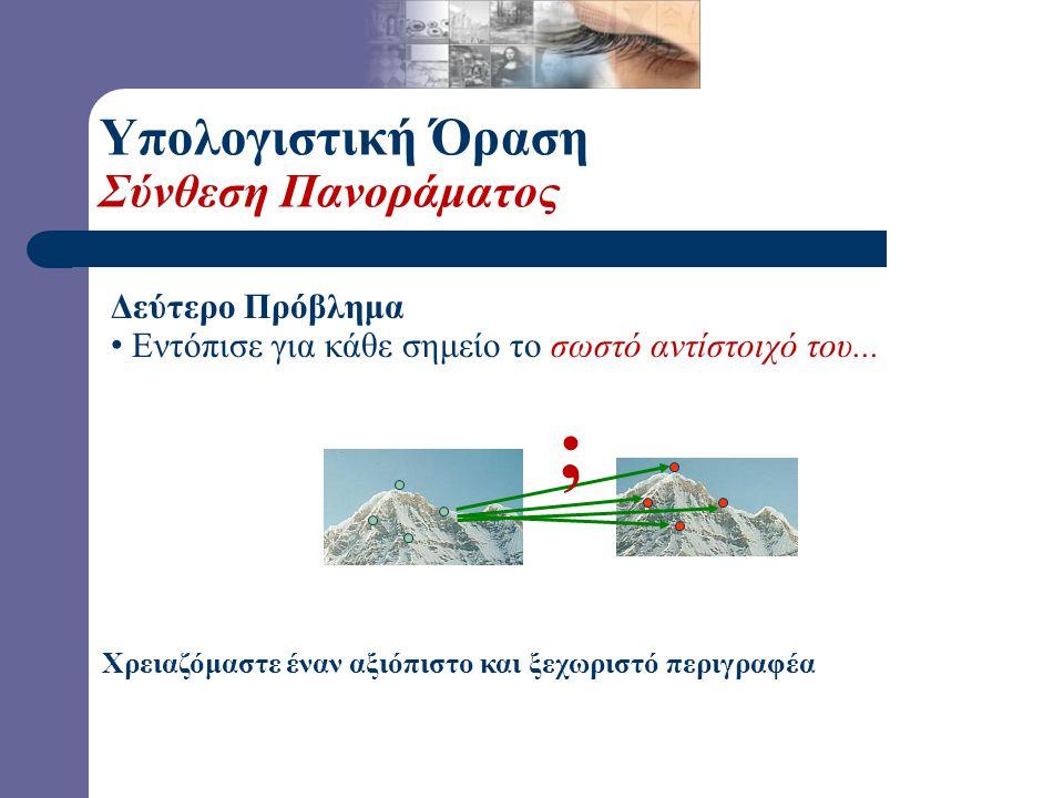Αναισθησία σε Φωτομετρικές Παραμορφώσεις; Υπολογιστική Όραση Ανιχνευτής του Harris-Ανάλυση (R.