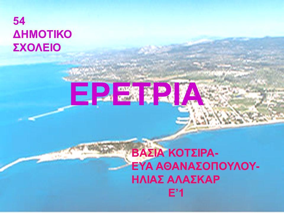 Η Ερέτρια είναι παραλιακή κωμόπολη της Εύβοιας, νοτιο-ανατολικά της Χαλκίδας, απέναντι από τις βόρειες ακτές τις Αττικής, στον Νότιο Ευβοϊκό κόλπο.
