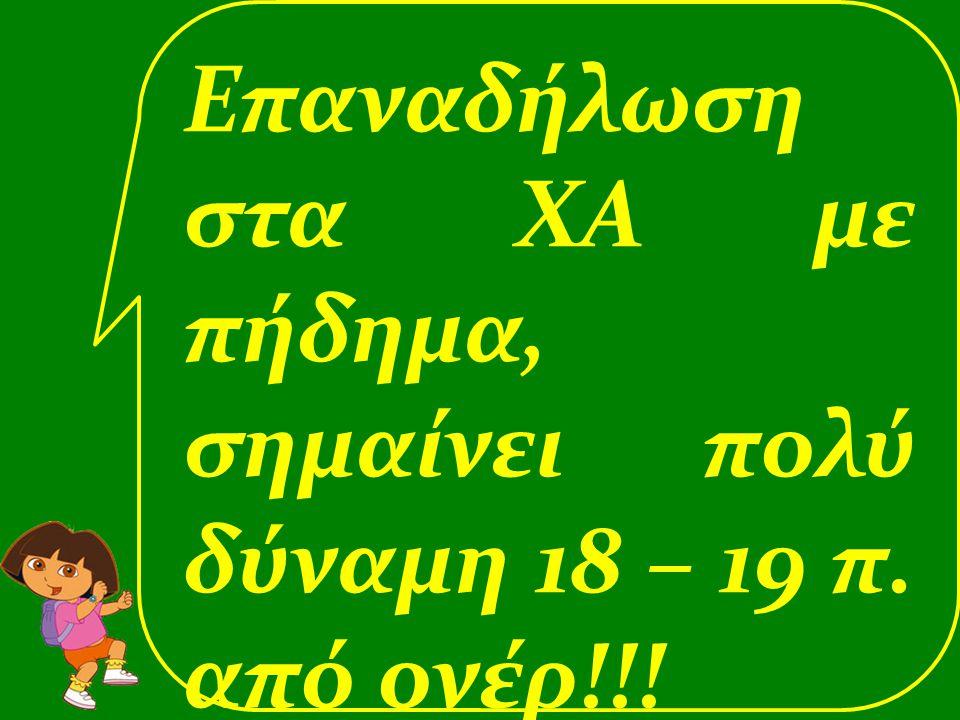 Επαναδήλωση στα ΧΑ με πήδημα, σημαίνει πολύ δύναμη 18 – 19 π. από ονέρ!!!