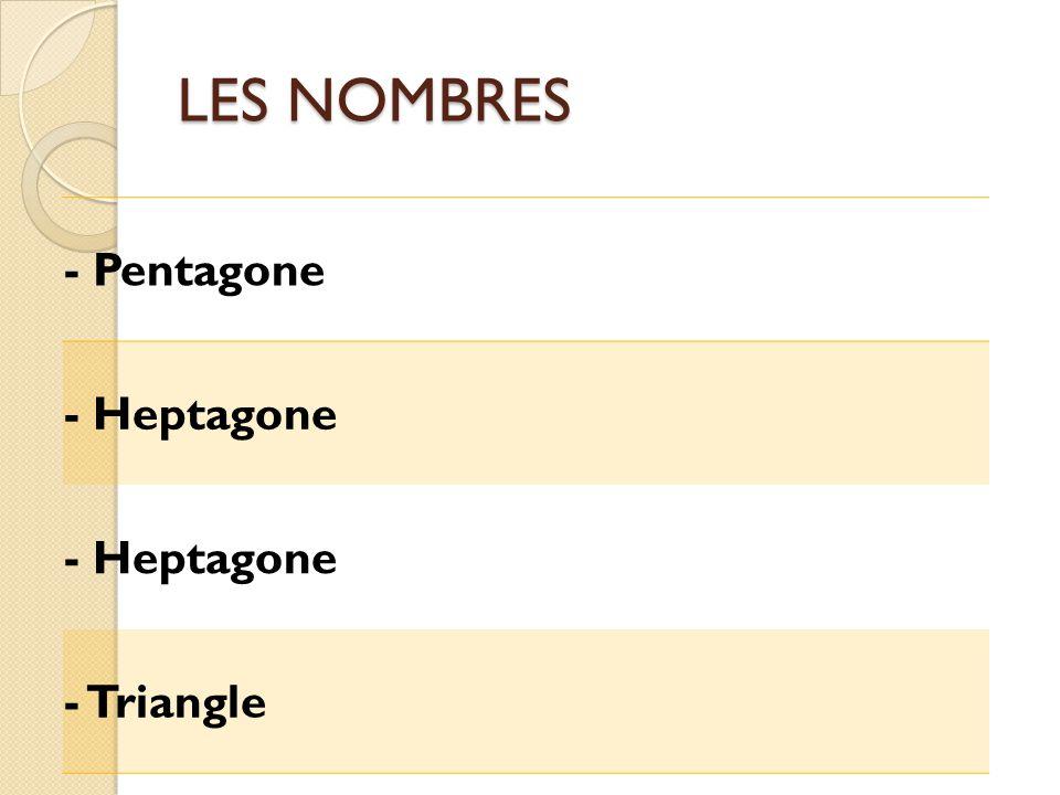 LES NOMBRES - Pentagone - Heptagone - Triangle