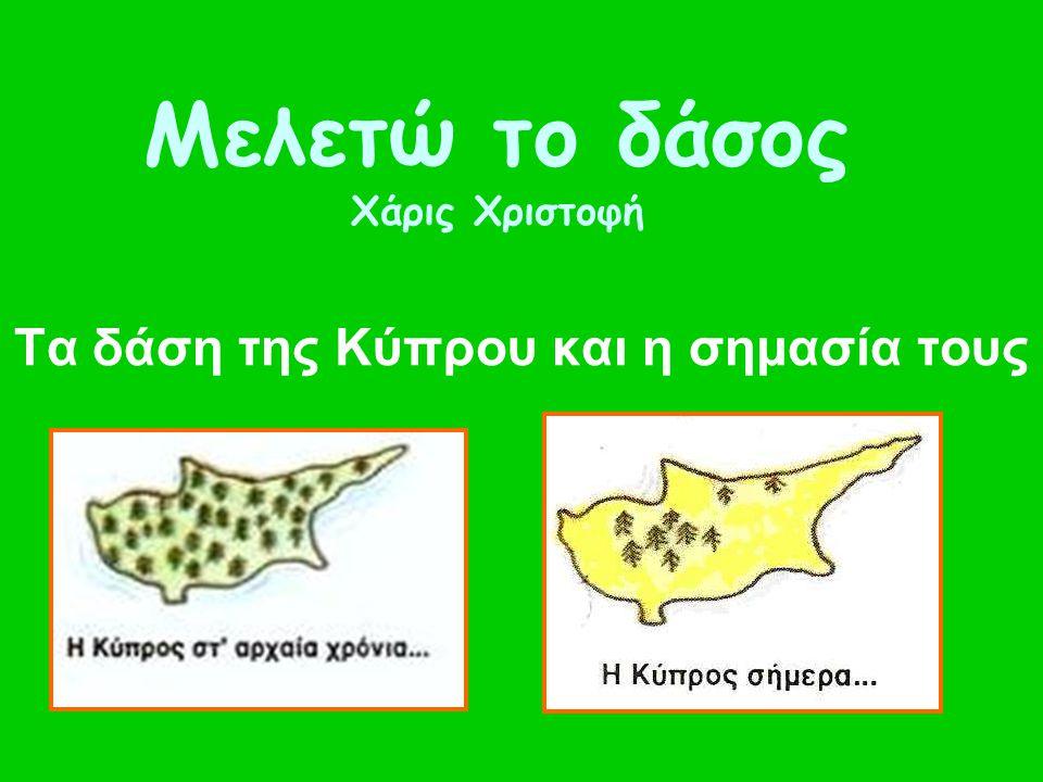 Μελετώ το δάσος Χάρις Χριστοφή Τα δάση της Κύπρου και η σημασία τους