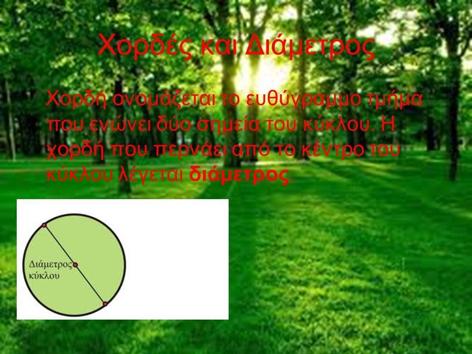 Τι είναι ο κύκλος; Κύκλος είναι το επίπεδο γεωμετρικό σχήμα, του οποίου όλα τα σημεία ισαπέχουν από ένα σημείο. Το σημείο ονομάζεται κέντρο (Ο) και η