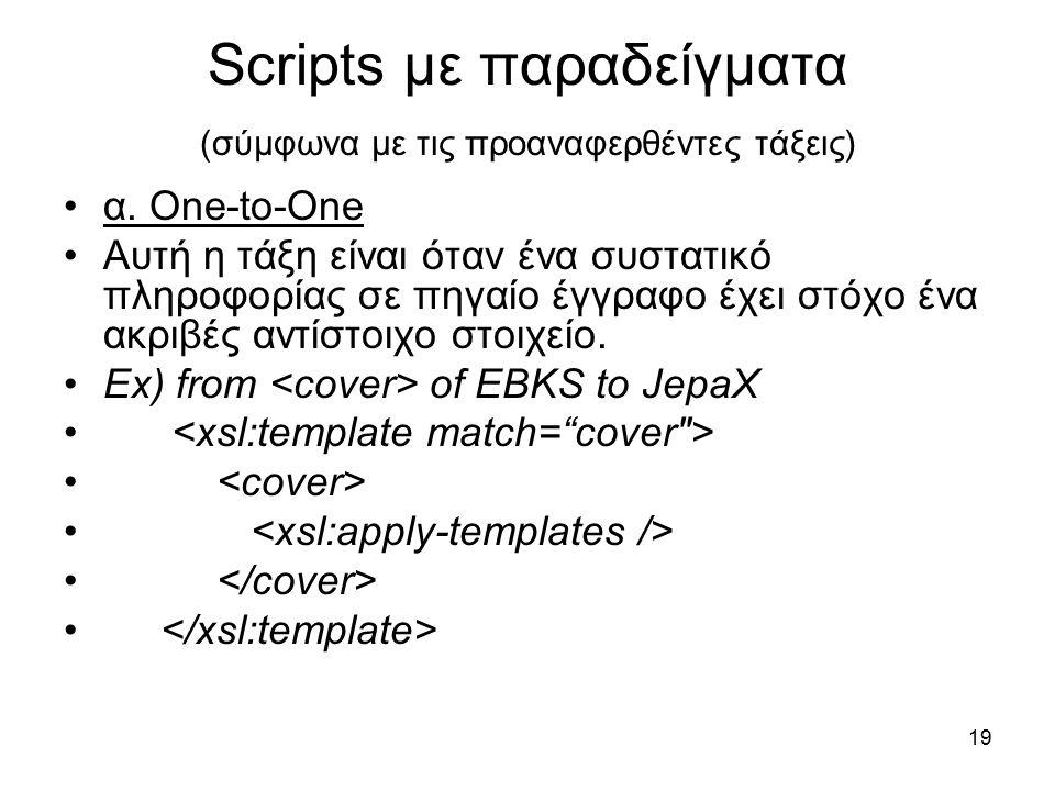 19 Scripts με παραδείγματα (σύμφωνα με τις προαναφερθέντες τάξεις) α.