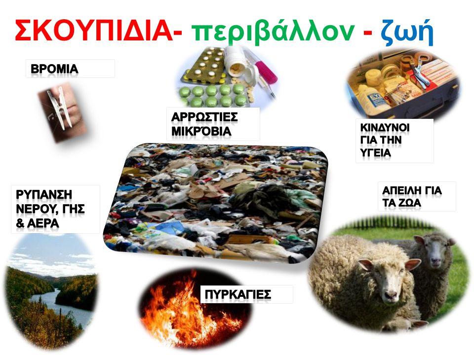Μειώστε – ξαναχρησιμοποιήστε- Ανακυκλώστε Μετατρέψτε σε κάτι χρήσιμο * Ξαναλιώνονται και γίνεται πάλι χαρτί- γυαλί- μέταλλα * Εξοικονομούμε ενέργεια * Προστατεύουμε το περιβάλλον *Δημιουργούνται νέες θέσεις εργασίας στις βιομηχανίες * Βοηθάμε την οικονομία της χώρας μας * Εξοικονομούμε πρώτες ύλες