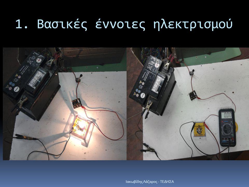 1. Βασικές έννοιες ηλεκτρισμού Iακωβίδης Λάζαρος - ΤΕΔΗΣΑ