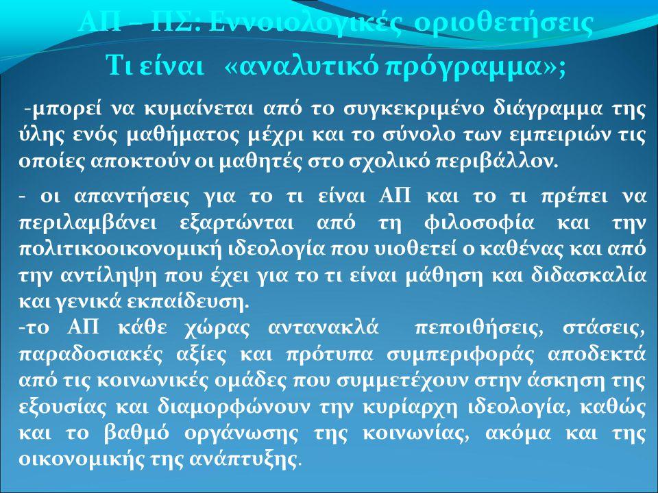 γ)Διδακτικές προσεγγίσεις: Οι μεθοδολογικές υποδείξεις, οι οποίες επιλέγονται για την επίτευξη των στόχων.