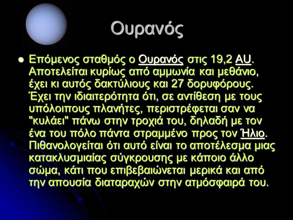 Ουρανός Επόμενος σταθμός ο Ουρανός στις 19,2 AU.