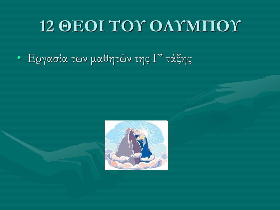 ΑΘΗΝΑ Κόρη του ΔίαΚόρη του Δία Θεά της Σοφίας και της εξυπνάδαςΘεά της Σοφίας και της εξυπνάδας Διδάσκει τέχνες στους ανθρώπους: υφαντική, αγγειοπλαστικήΔιδάσκει τέχνες στους ανθρώπους: υφαντική, αγγειοπλαστική Αγαπημένο της ζώο η κουκουβάγιαΑγαπημένο της ζώο η κουκουβάγια Είναι επίσης θεά της πολεμικής τέχνης και υποστηρίζει πάντα αυτούς που έχουν δίκιοΕίναι επίσης θεά της πολεμικής τέχνης και υποστηρίζει πάντα αυτούς που έχουν δίκιο