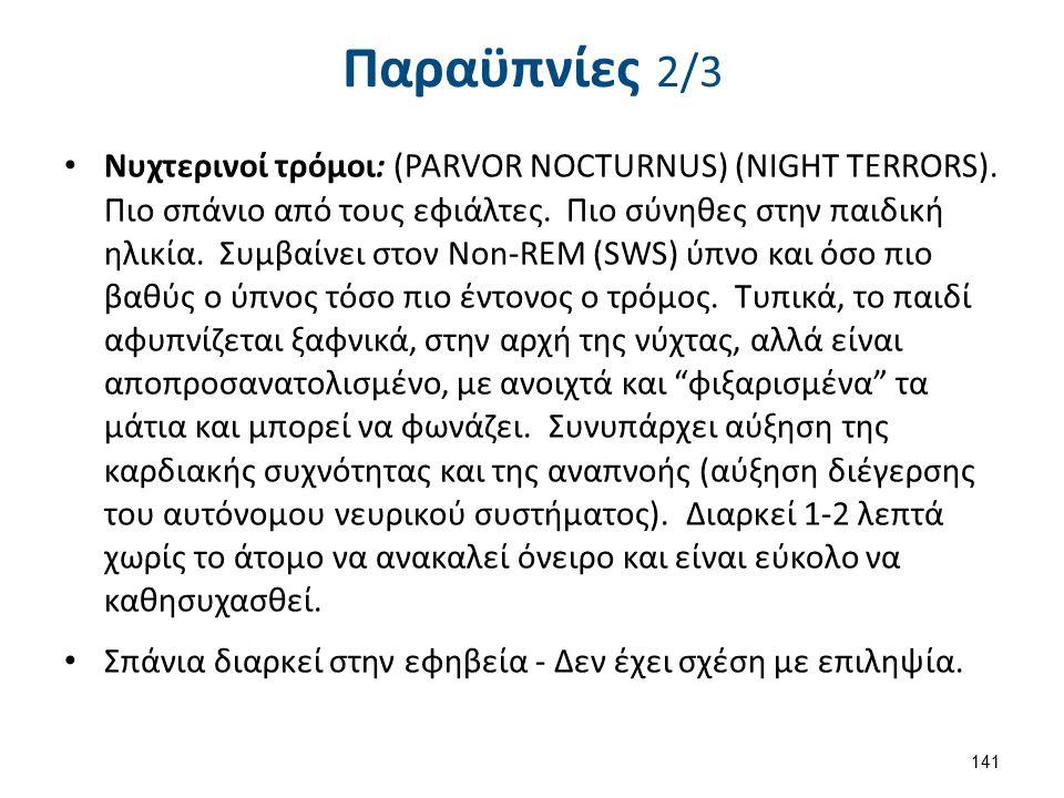 Νυχτερινοί τρόμοι: (PARVOR NOCTURNUS) (NIGHT TERRORS).