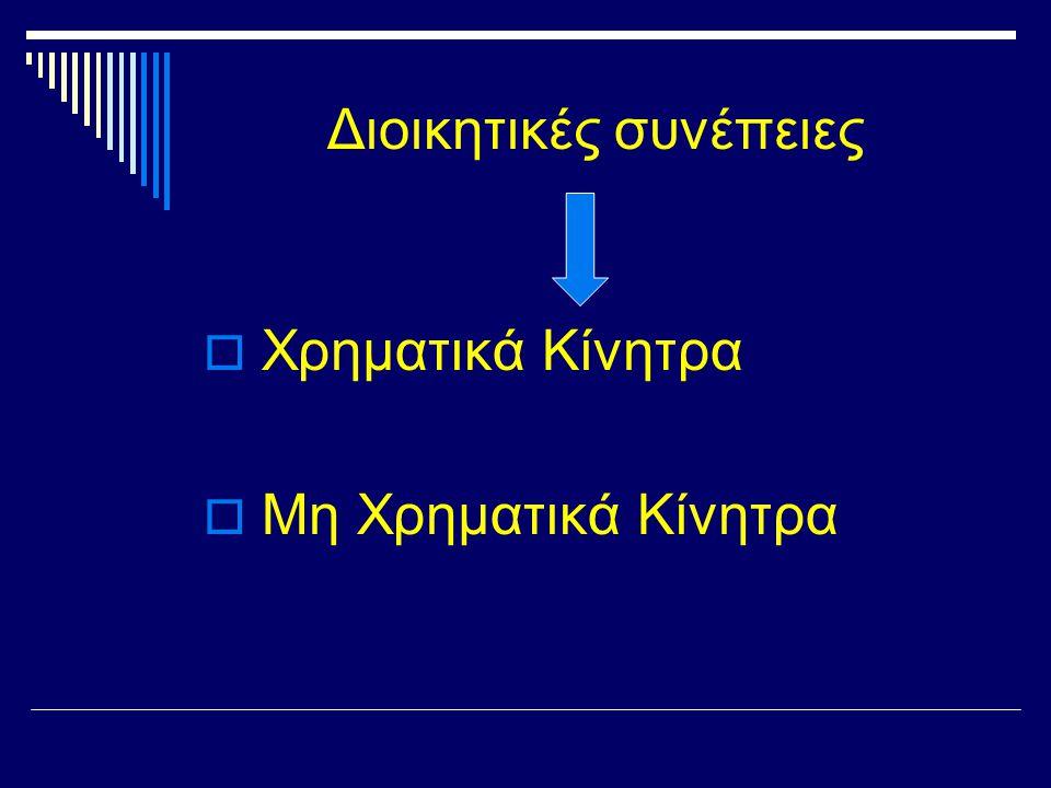 Διοικητικές συνέπειες  Χρηματικά Κίνητρα  Μη Χρηματικά Κίνητρα